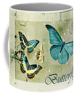 Blue Butterfly - S55c01 Coffee Mug