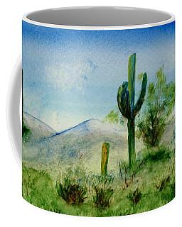 Blue Cactus Coffee Mug by Jamie Frier