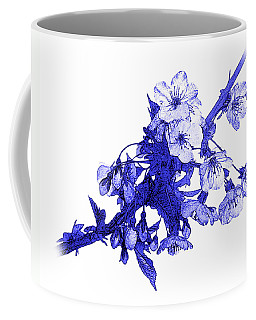 Coffee Mug featuring the photograph Blue Cherry by Jane McIlroy