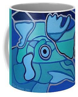 Blue Chicken Abstract Coffee Mug