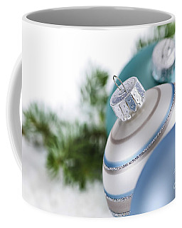 Blue Christmas Ornaments Coffee Mug