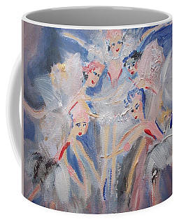 Blue Clouds The Ballet Coffee Mug by Judith Desrosiers