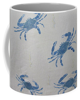 Blue Crabs On Sand Coffee Mug