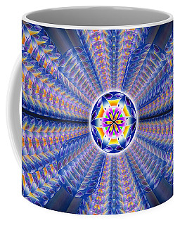 Coffee Mug featuring the drawing Blue Crystal Consciousness by Derek Gedney