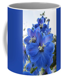 Blue Delphinium Rising Coffee Mug