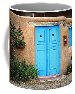 Blue Doors Of Taos Coffee Mug