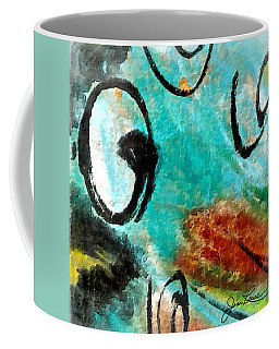 Coffee Mug featuring the painting Blue Dream by Joan Reese