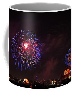 Blue Fireworks Over Domino Sugar Coffee Mug