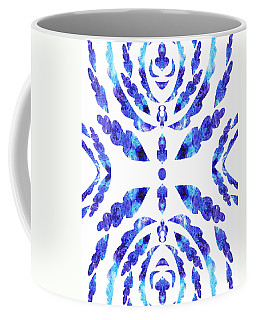 Blue Floral Pattern IIi Coffee Mug