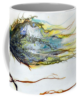 Blue Flower By Stream Coffee Mug
