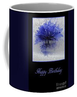 Coffee Mug featuring the photograph Blue Flower In Ice by Randi Grace Nilsberg