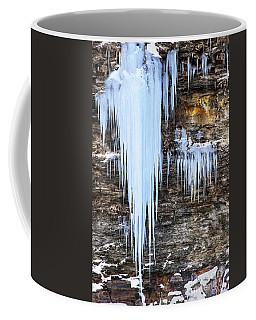 Blue Frozen Icicle Stalactites Coffee Mug