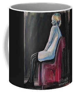 Coffee Mug featuring the drawing Blue by Gabrielle Wilson-Sealy