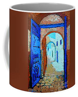 Blue Gate Coffee Mug by Ana Maria Edulescu