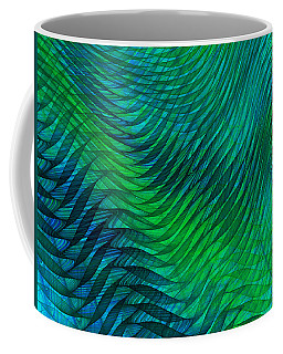 Blue Green Fabric Abstract Coffee Mug