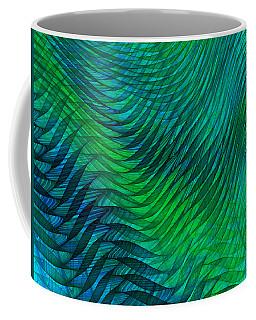 Blue Green Fabric Abstract Coffee Mug by Jane McIlroy