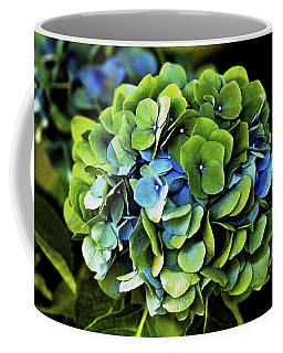 Blue Green Hydrangea Coffee Mug