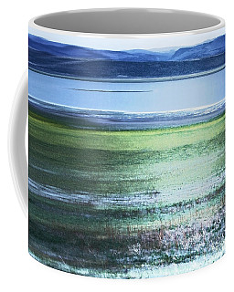 Blue Green Landscape Coffee Mug
