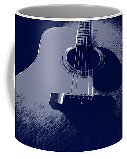 Coffee Mug featuring the photograph Blue Guitar by Photographic Arts And Design Studio