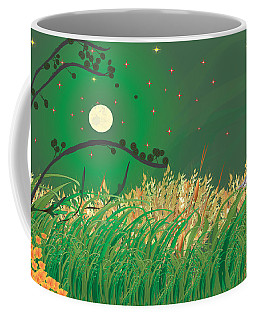 Blue Heron Grasses Coffee Mug by Kim Prowse