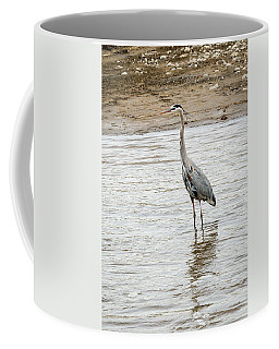 Coffee Mug featuring the photograph Blue Heron by Michael Chatt