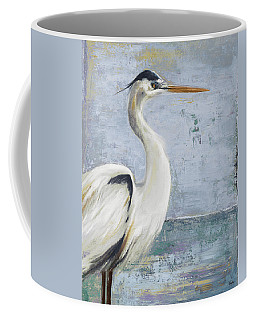 Blue Heron On Blue I Coffee Mug