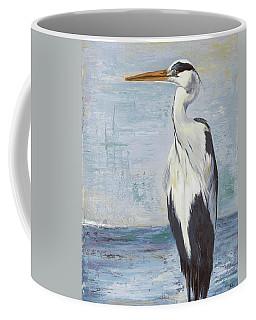 Blue Heron On Blue II Coffee Mug