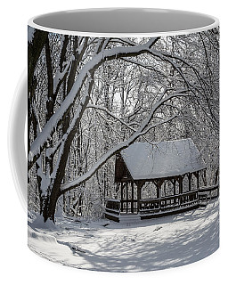 Blue Heron Park After Snowfall Coffee Mug