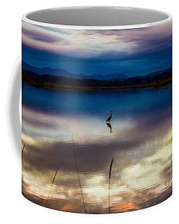 Blue Heron Sun Set Coffee Mug