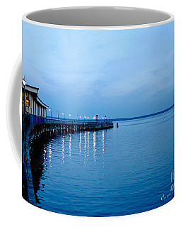 Blue Light Horizon Coffee Mug by Carol F Austin