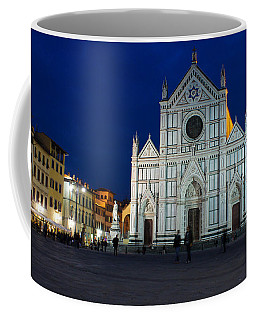 Blue Hour - Santa Croce Church Florence Italy Coffee Mug by Georgia Mizuleva