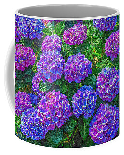 Coffee Mug featuring the photograph Blue Hydrangea by Hanny Heim