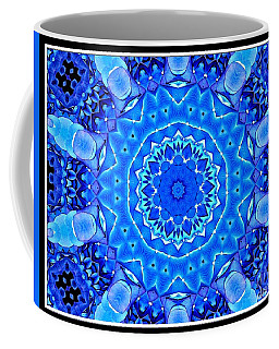 Coffee Mug featuring the photograph Blue Hydrangeas Flower Kaleidoscope by Rose Santuci-Sofranko