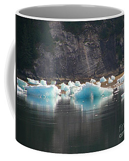 Blue Ice Flows Coffee Mug by Bev Conover