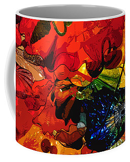 Coffee Mug featuring the digital art Blue In A Playground Of Red by Kirt Tisdale