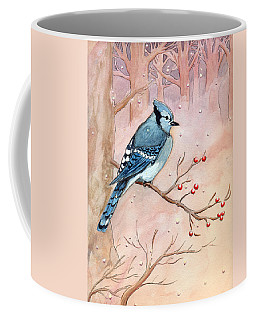 Coffee Mug featuring the painting Blue Jay by Katherine Miller