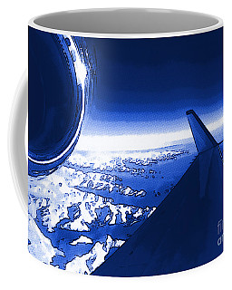 Blue Jet Pop Art Plane Coffee Mug