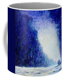 Blue Landscape - Abstract Coffee Mug