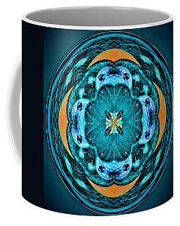 Blue Leaf Mandala Kaleidoscope Coffee Mug