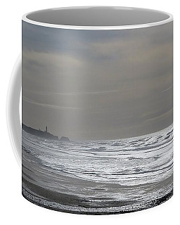 Coffee Mug featuring the photograph Blue Lighthouse View by Susan Garren