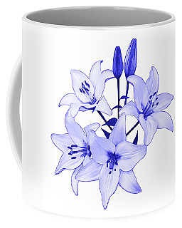 Coffee Mug featuring the photograph Blue Lily by Jane McIlroy