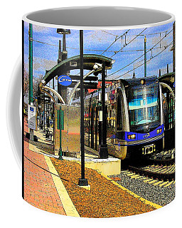 Coffee Mug featuring the photograph Blue Line by Rodney Lee Williams