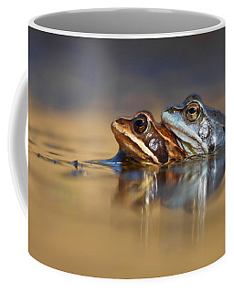Blue Love ... Mating Moor Frogs  Coffee Mug