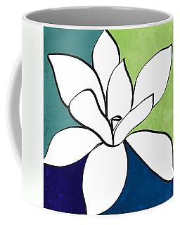 Blue Magnolia 1- Floral Art Coffee Mug