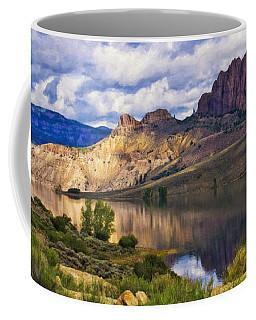 Blue Mesa Reservoir Digital Painting Coffee Mug