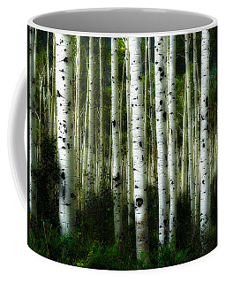 Coffee Mug featuring the photograph Blue Mood Aspens I by Lanita Williams