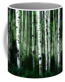 Coffee Mug featuring the photograph Blue Mood Aspens II by Lanita Williams