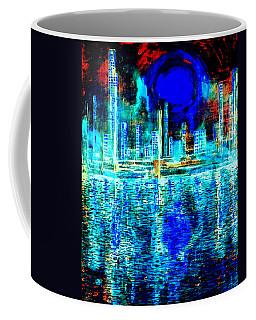 Blue Moon In A Midnight Sky Coffee Mug
