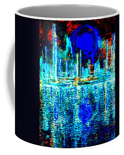 Blue Moon In A Midnight Sky Coffee Mug