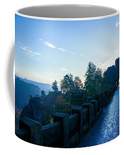 Blue Morning On The Bastei Coffee Mug